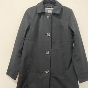 Vince Camuto black  single breasted trench Sz S
